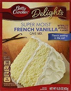 Betty Crocker Delights Super Moist French Vanilla Cake Mix - 15.25 oz (Pack of 2)