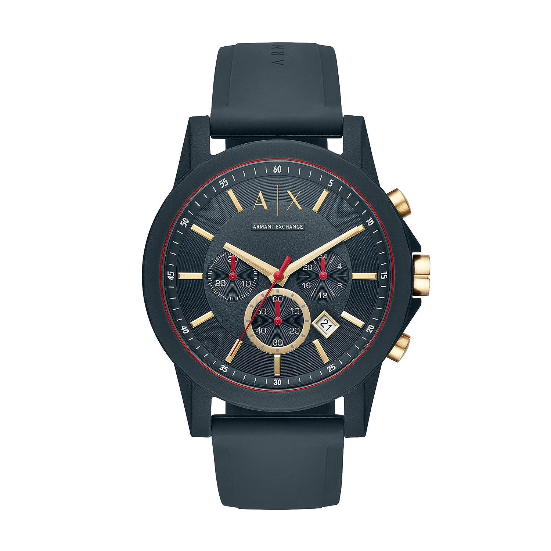 Silikon Armband Ax1335 Exchange Quarz Analog Herren Armani Mit Uhr b6yfgImY7v