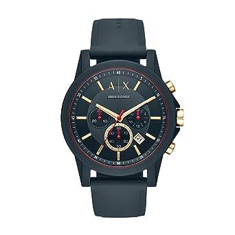 ec5c248023 Armani Exchange Homme Analogique Quartz Montre avec Bracelet en Silicone  AX1335
