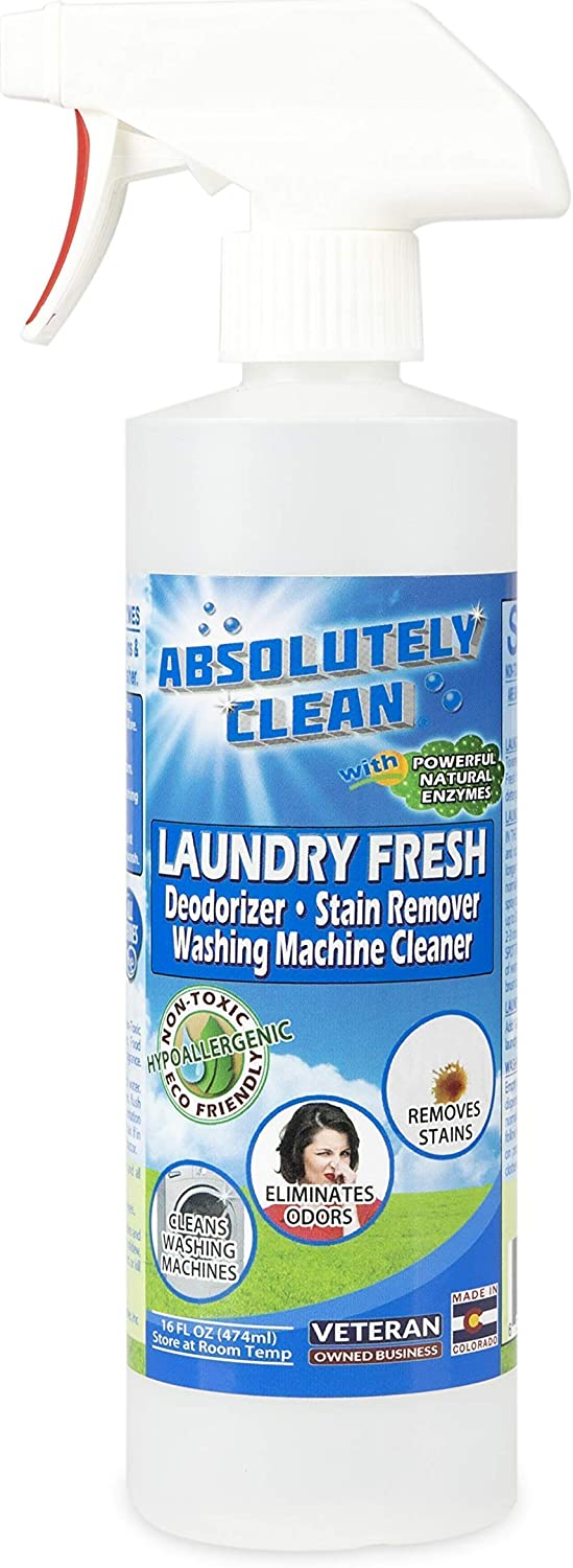 Best Laundry Stain & Odor Remover – Powerful Enzymes Eliminate Odors & Stains – Food, Grease, Oil, Red Wine Stains & More – Sweat, Mold & Mildew Odors – Cleans & Deodorizes Washing Machines - USA Made