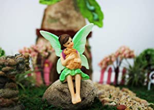 NW Wholesaler - Fairy Garden Fairy Figurines Hand Painted Miniature Fairies (Bunny Friend Fairy)