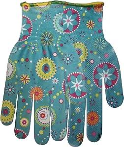 Midwest Gloves & Gear 506-L-AZ-6 Ladies Garden Gloves, Floral Print