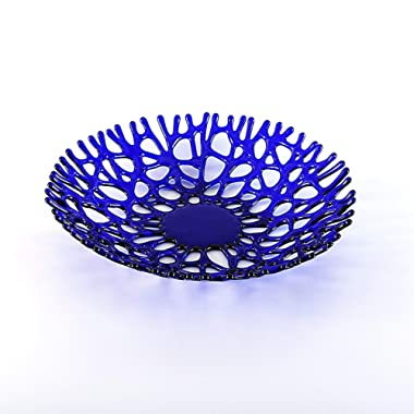 Lacy Glass Art Sea Coral Decorative Fruit Bowl