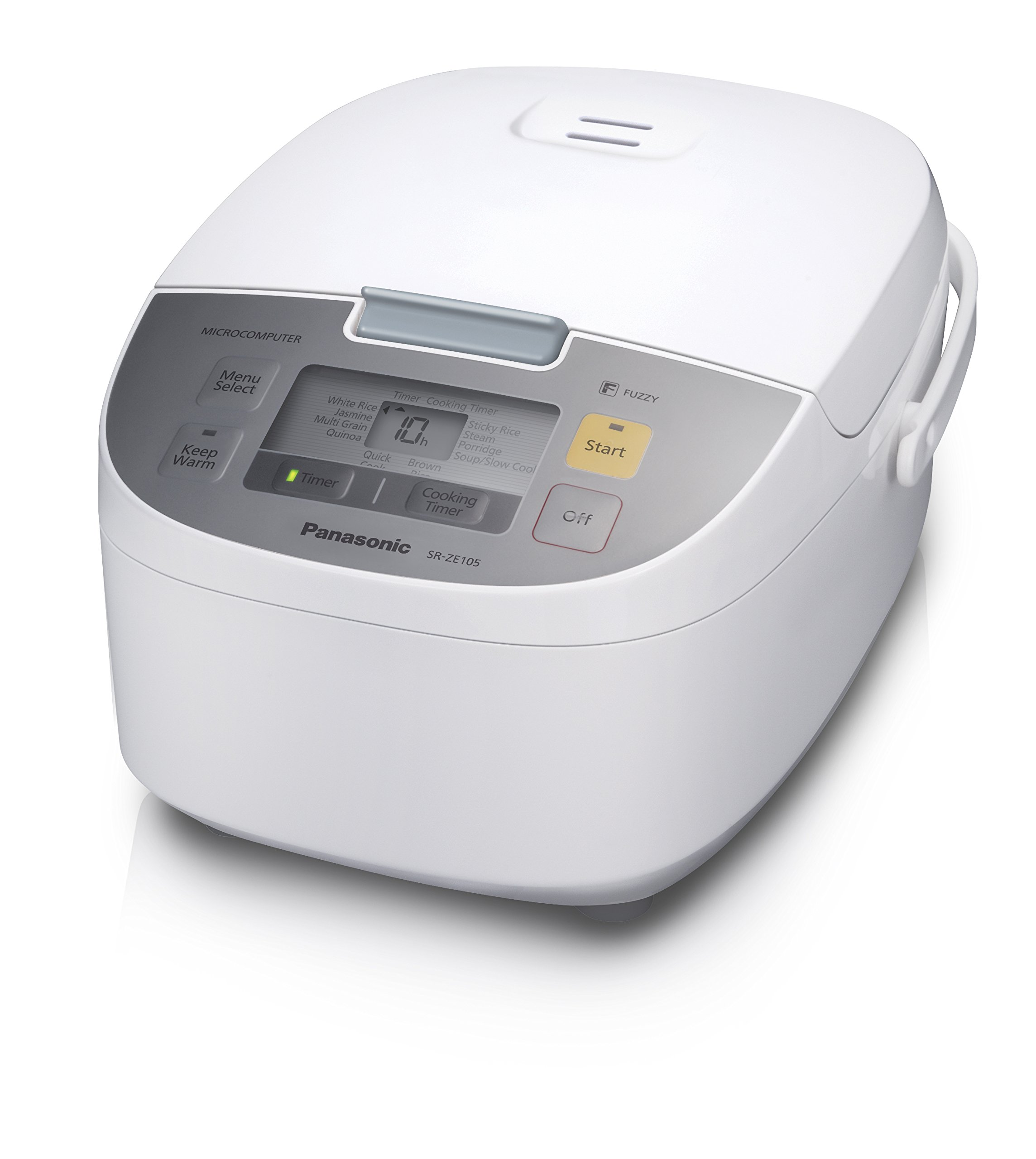 Panasonic SR-ZE105 Rice Cooker & Multi-Cooker, 10 cups cooked/5 cups uncooked, White