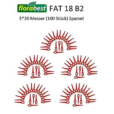 100 lames coupe-gazon FAT 18 B2 LIDL FLORABEST IAN 71315 + IAN 86154 + IAN 95940