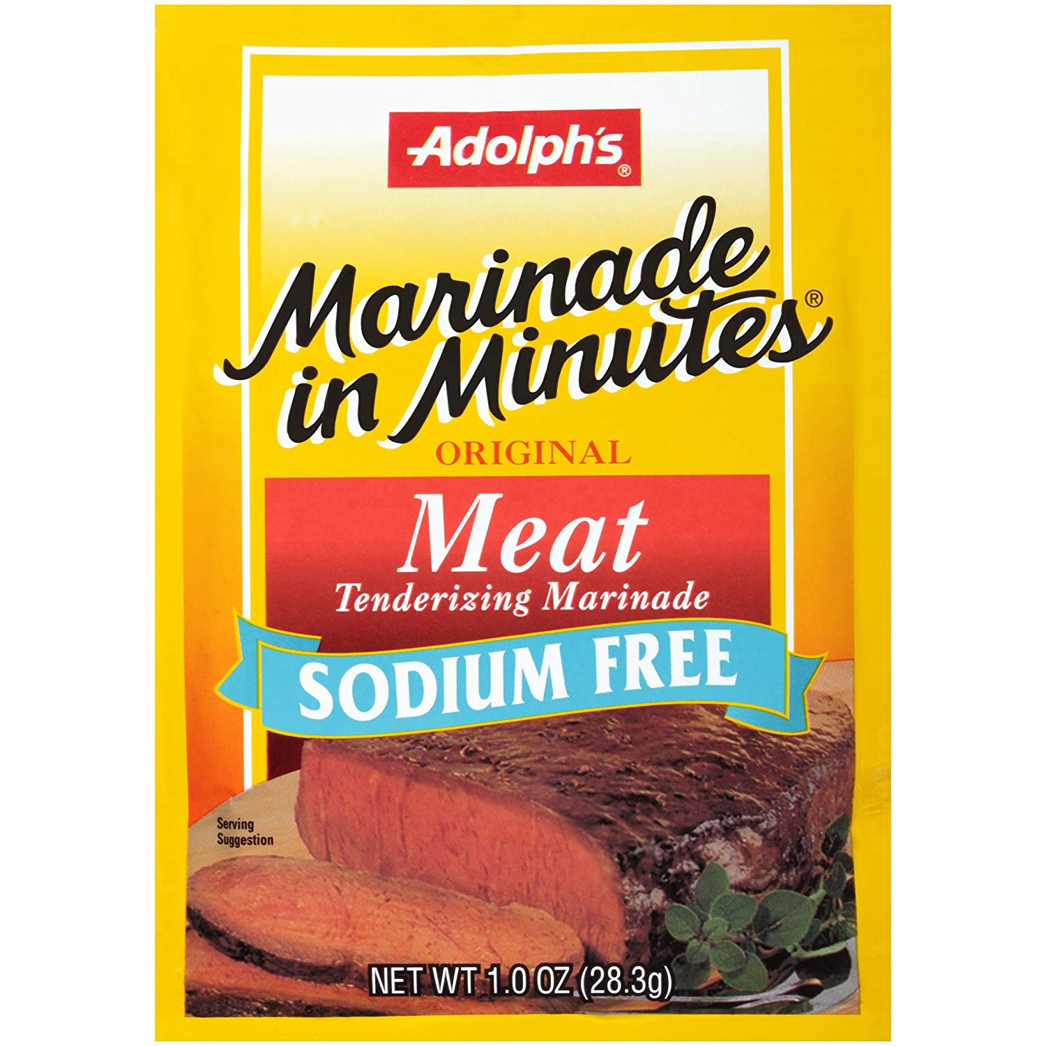 Adolph's Marinade In Minutes Sodium Free Meat Marinade, 1 oz