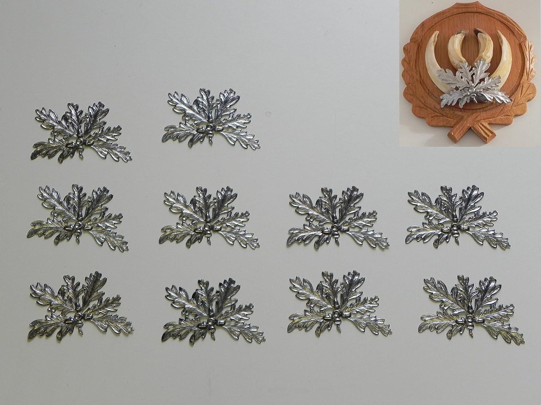 10x Hojas de roble portada para figura de jabalí, Armas de 6blättrig