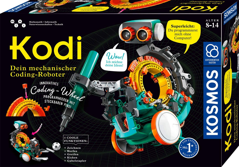 KOSMOS 620042 Kodi – Tu robot mecánico de codón, programar sin ordenador, 5 modelos diferentes de robots montar, robot juguete para habitación de los niños, caja de experimentos , color/modelo surtido