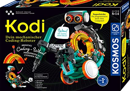 KOSMOS 620042 Kodi – Tu robot mecánico de codón, programar sin ordenador, 5 modelos diferentes de robots montar, robot juguete para habitación de los niños, caja de experimentos , color/modelo surtido: Amazon.es: