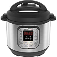 Instant Pot Duo V2 7-in-1 Electric Pressure Cooker, 6 Qt, 5.7L 1000 W, Brushed Stainless Steel/Black, 220-240v, Stainless Steel Inner Pot