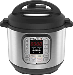 Instant Pot Duo 7-in-1 Electric Pressure Cooker, 6 Qt, 5.7 Litre, 1000 W, Brushed Stainless Steel/Black [International Version]