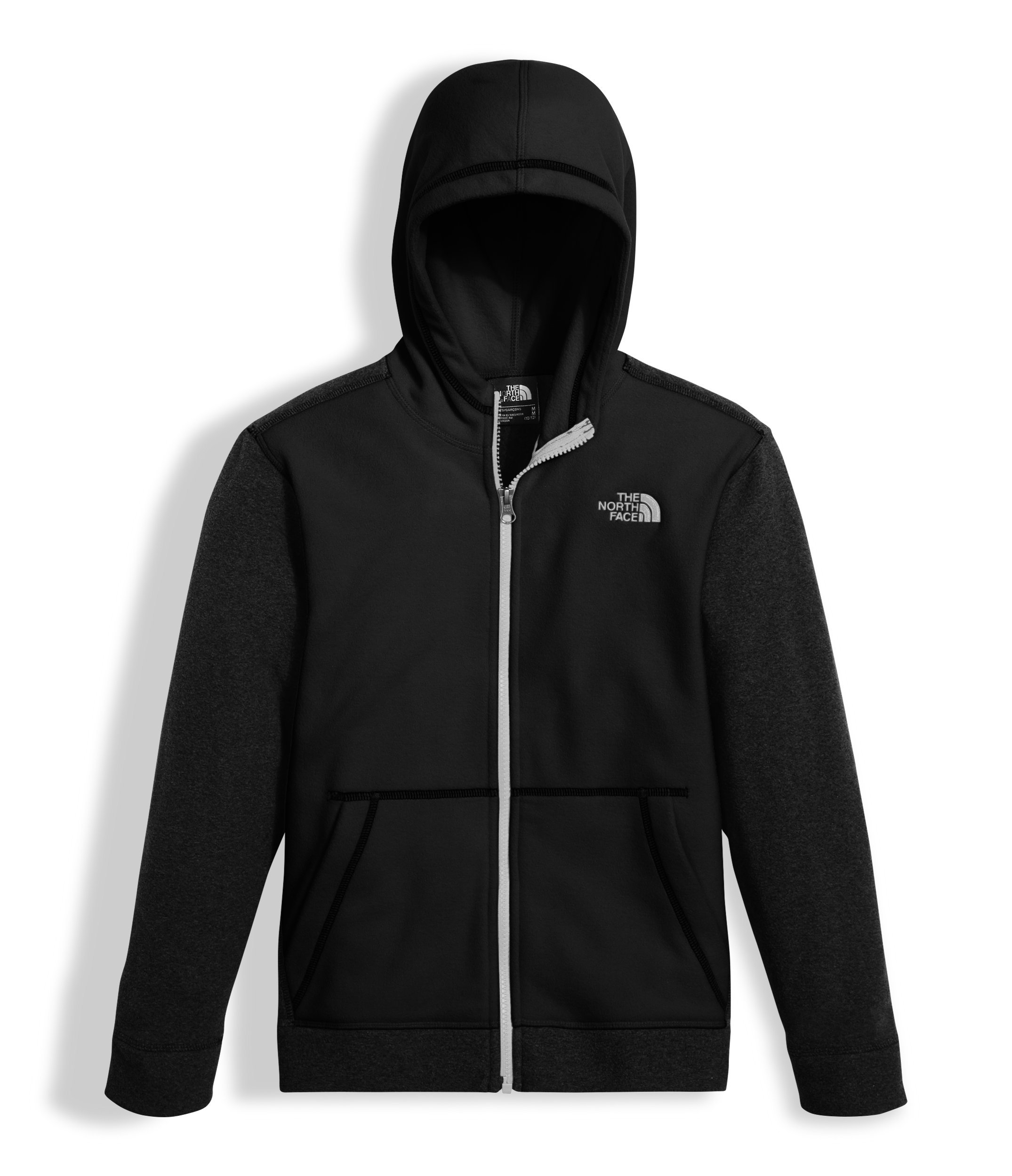 The North Face Boys Glacier Full Zip Hoodie - TNF Black - XS