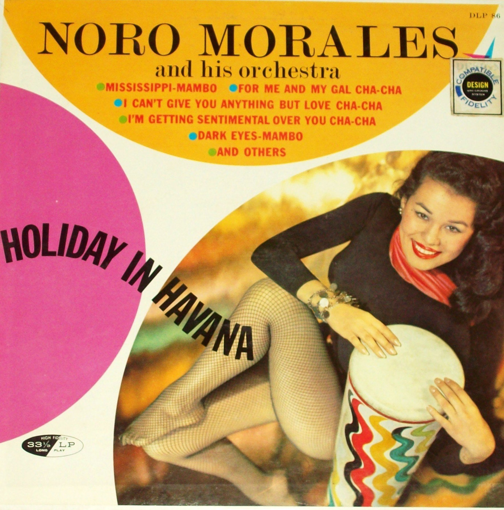 Noro Morales - Holiday In Havana - 12'' vinyl LP - Design DCF-1039 stereo - Afro-Cuban Latin jazz cheesecake by Design