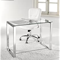 Escritorio, mesa ordenador, estudio, oficina, despacho. Cristal y ...