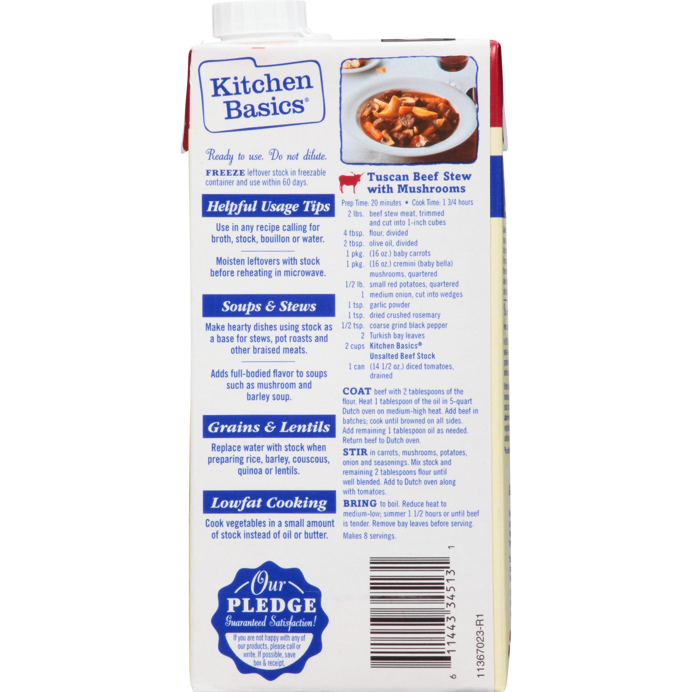 Kitchen Basics All Natural Unsalted Beef Stock, 32 fl oz by Kitchen Basics (Image #4)