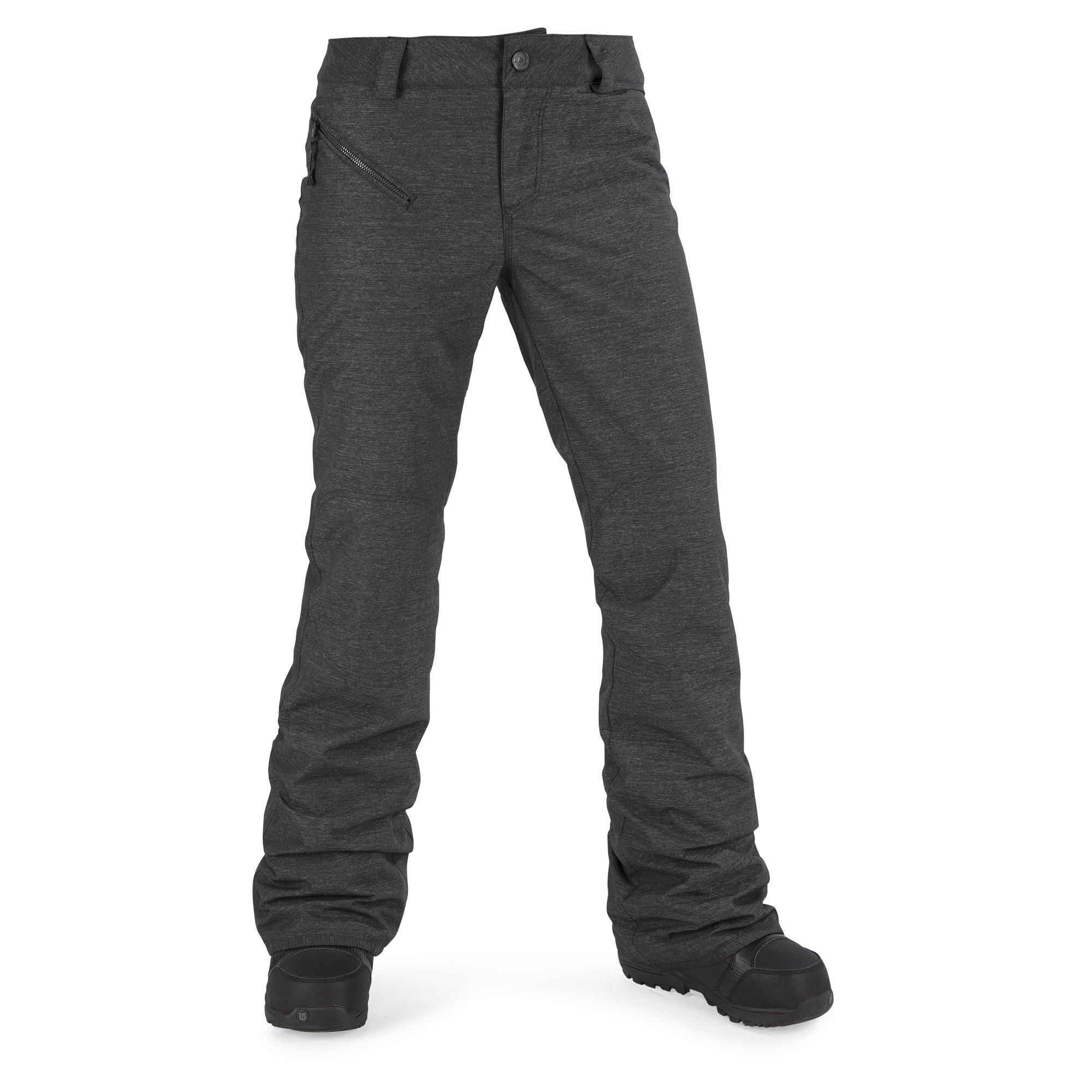 Volcom Junior's Pinto 2 Layer Shell Snow Pant, Black, Extra Small