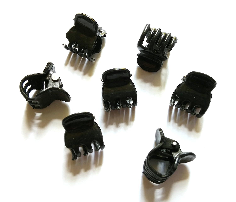 Mini Black Hair Claw Clips