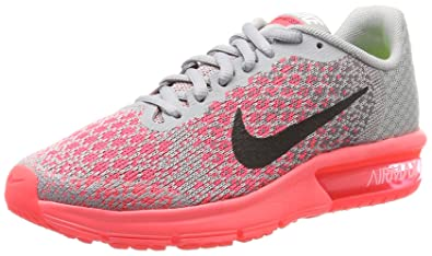 buy popular 2c7a5 60b63 Nike Air Max Sequent 2 (GS), Chaussures de Gymnastique Fille, Gris (