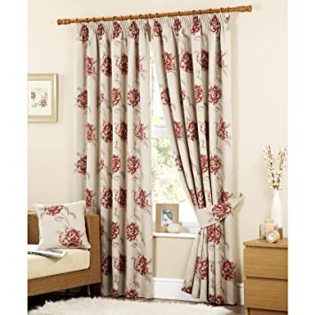 Luxury Cotswold Floral Jacquard Pencil Pleat Readymade Lined ...