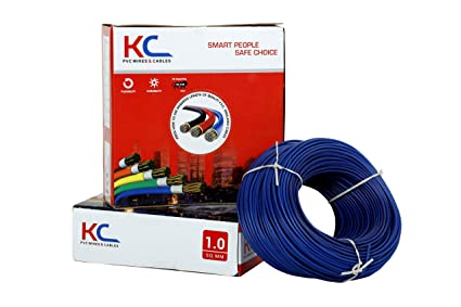 KC-Cab PVC nsulated Wire 1.0 SQ/MM Single Core Flexible Copper Wires and Cables for Domestic/Industrial Electric | Home Electric Wire | 90 Mtr Coil |