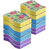 MR. SIGA Cellulose Scrub Sponge, Size 11 x 7 x 2.2cm - Pack of 12