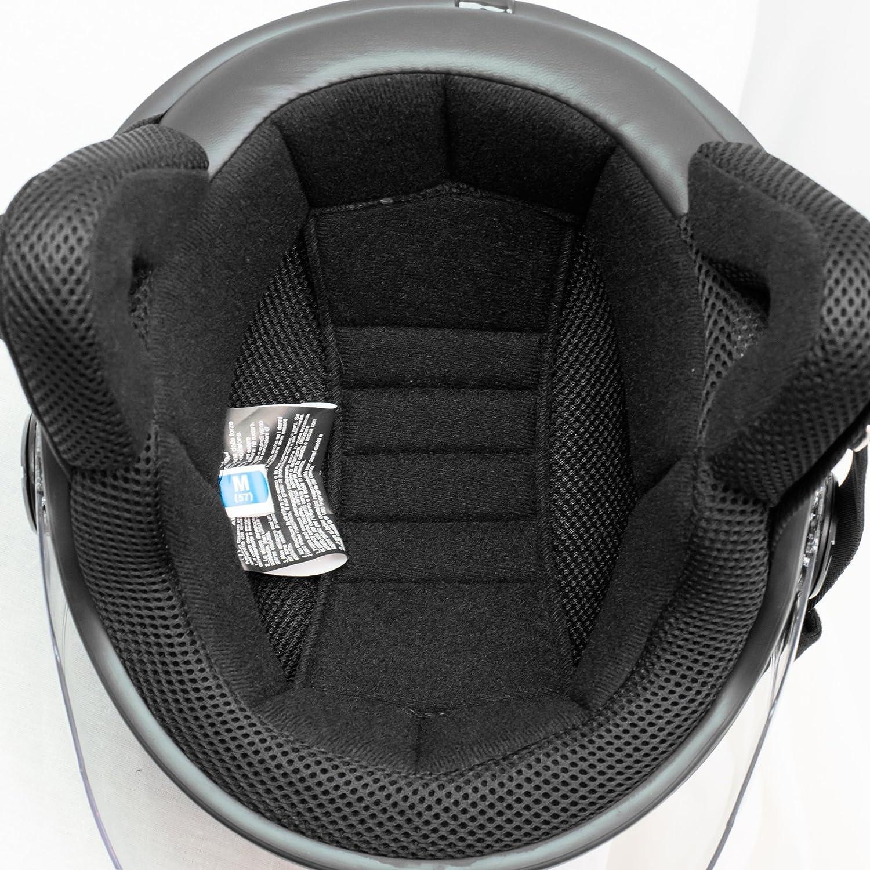 Casco Jet Demi Scooter Moto Omologato ECE 22 Visiera Antigraffio Bianco 2XL