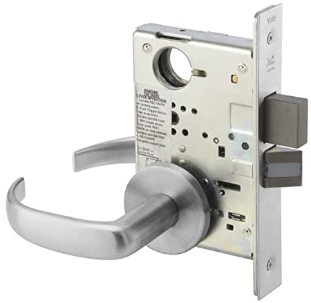 Escutcheon Plate Privacy with Deadbolt RH Field Reversible Grade 1 Yale 8802FL RH AUCN 626 8800 Mortise Lockset 626 Satin Chrome Finish