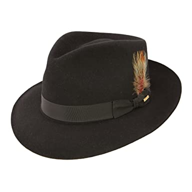 36f229b0a5c39 Stetson Downs Fedora Hat at Amazon Men s Clothing store