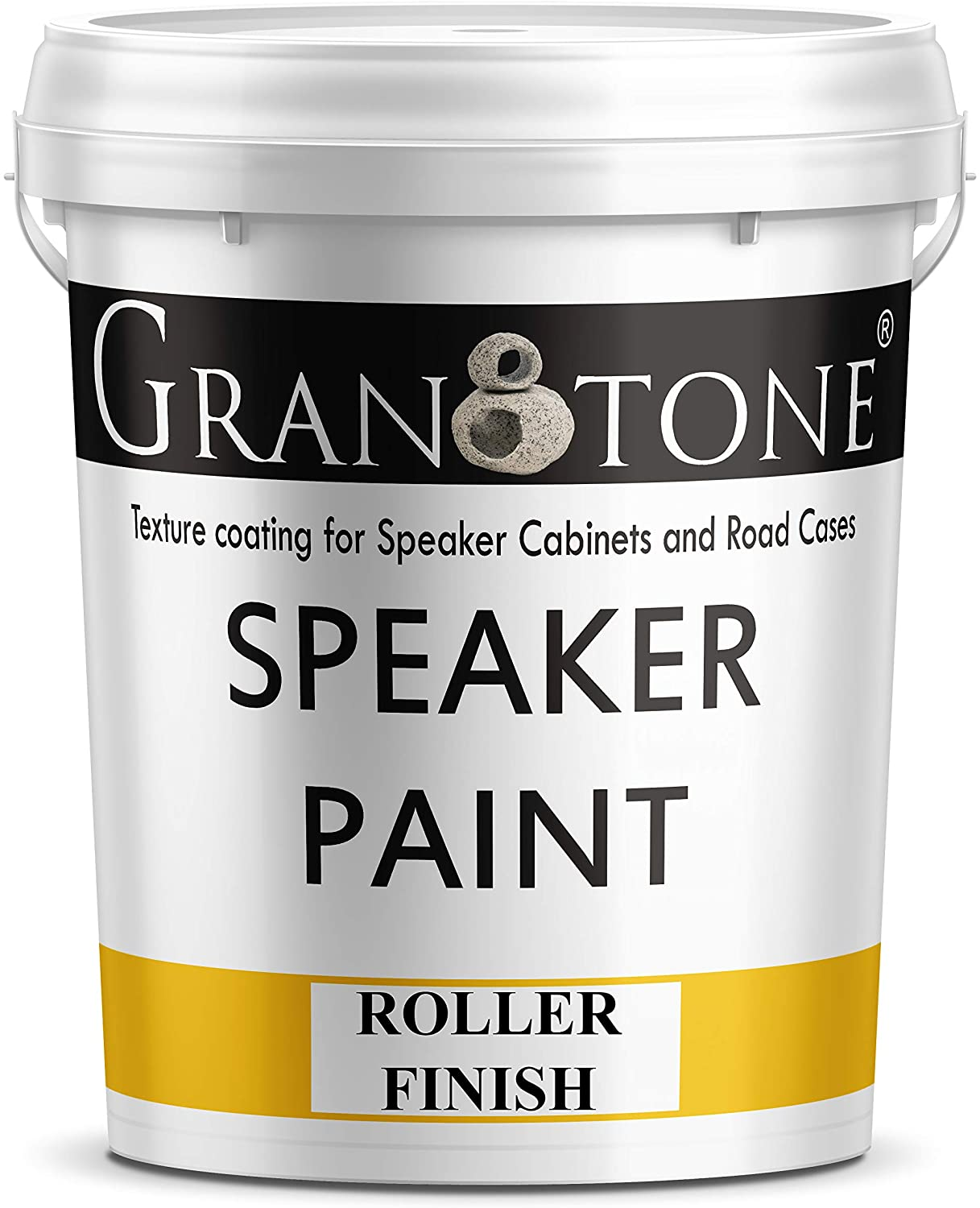 Granotone Speaker Paint Black 1 Gallon Texture Coating for Speaker Cabinets, Road Cases, Metal & Furniture, Roller Application, Water-Based