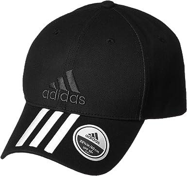 adidas 6P 3S Cap Cotto Gorra de Tenis, Hombre, Negro (Negro/Blanco ...