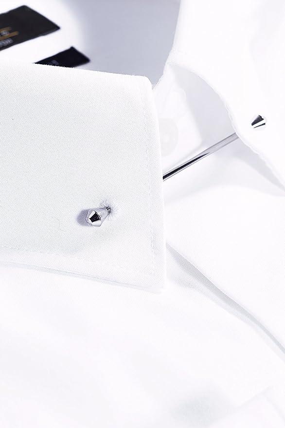 next Hombre Camisa Cuello Alfiler Corte Regular Puño Simple Blanco EU 53 Regular (UK 21R): Amazon.es: Ropa y accesorios