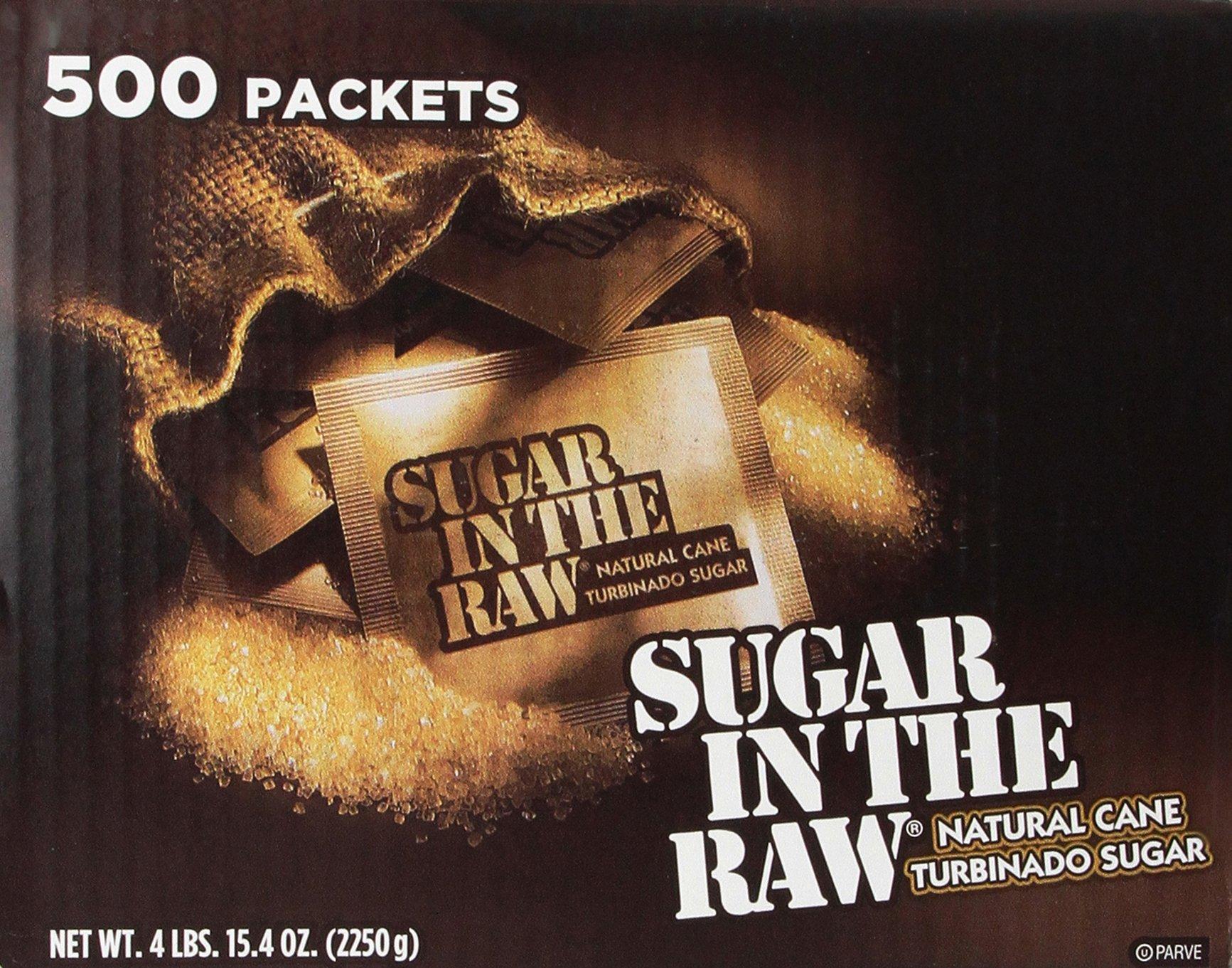Sugar in the Raw / Raw Sugar Natural Cane Turbinado from Hawaii / Box of 500 packets