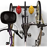 Koova Wall Mount Bike Storage Rack Garage Hanger for 3 Bicycles + Helmets | Fits All Bikes Even Large Cruisers/Big Tire…