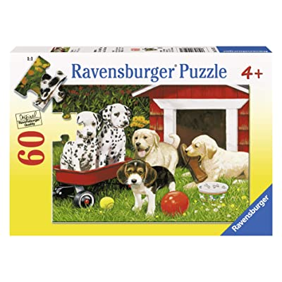 Ravensburger Puppy Party - 60 Piece Jigsaw Puzzle for Kids – Every Piece is Unique, Pieces Fit Together Perfectly: Toys & Games