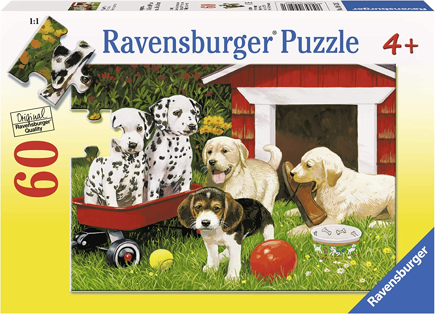 Ravensburger Puppy Party - 60 Piece Jigsaw Puzzle for Kids – Every Piece is Unique, Pieces Fit Together Perfectly