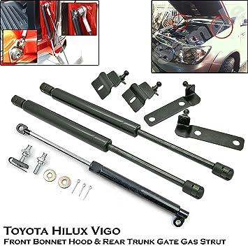 Front Bonnet & Rear Trunk Gas Shock Strut Damper Lift Supports Fit Toyota Hilux Vigo SR5