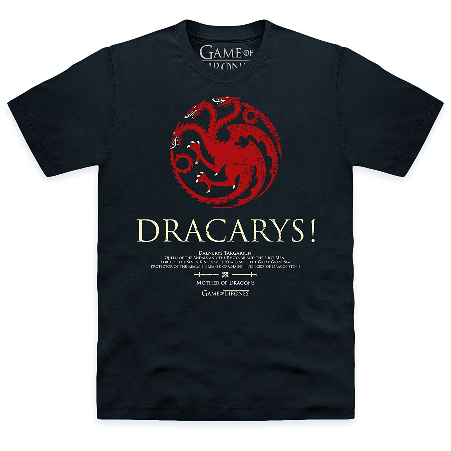 Game of Thrones Official Dracarys pour Homme T-Shirt