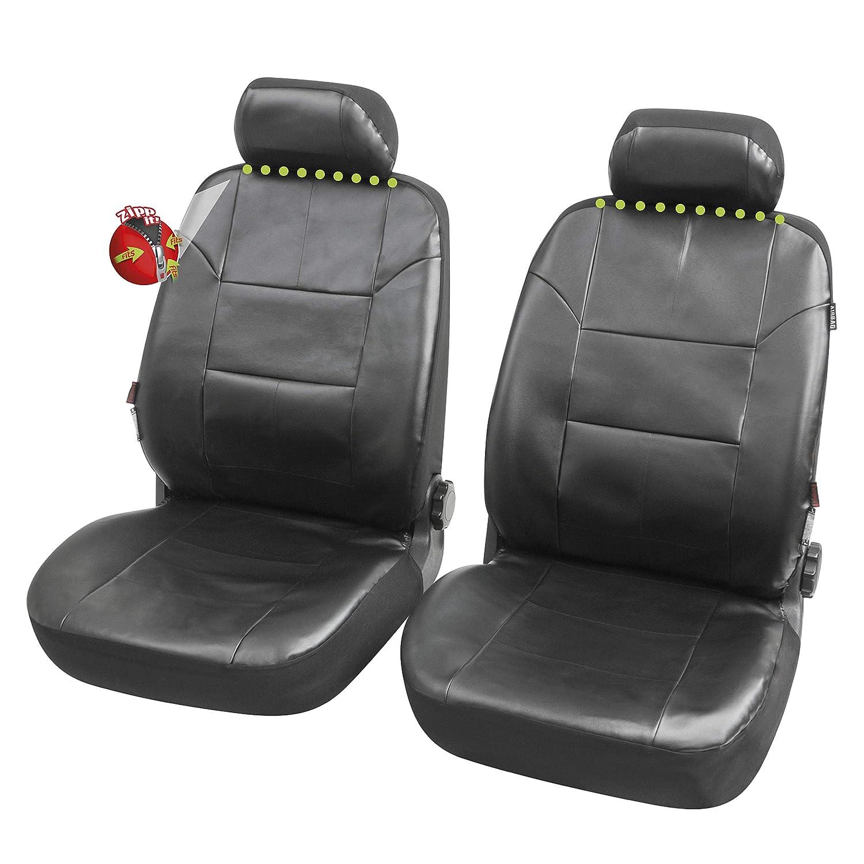2009-2016 con Fori per i poggiatesta e bracciolo Laterale compatibili con sedili con airbag Coprisedili Anteriori Pelle Nera 3008 Versione I