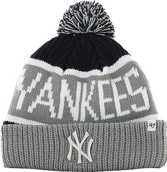 77d5503ffd0 47 Brand Knit Beanie - Calgary New York Yankees navy  Amazon.co.uk ...