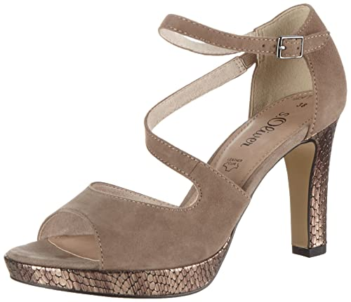 28323, Womens Ankle Strap Sandals s.Oliver