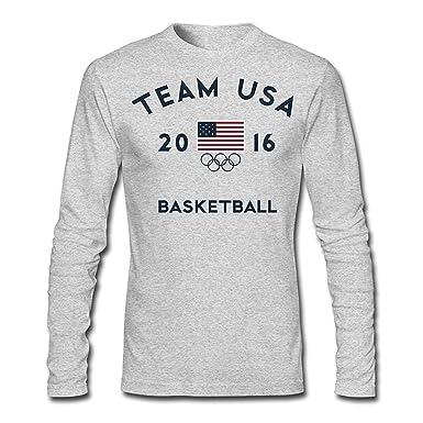 e0f9ab2723373 Mens Team USA Basketball Rio 2016 Olympic Long Slev Tee Tshirt ...