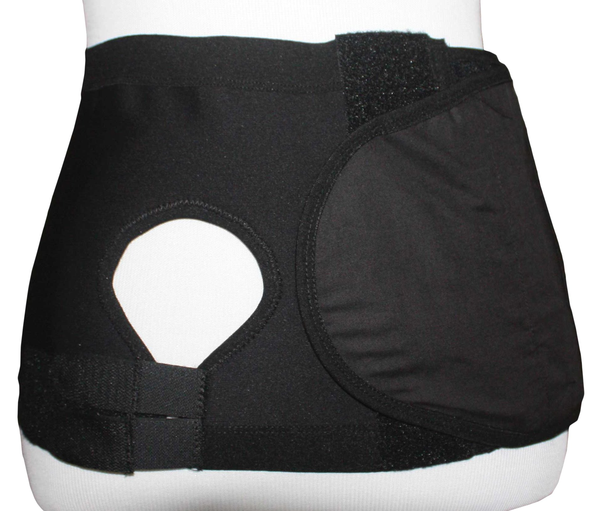 Safe n' Simple Right Hernia Support Belt with Adjustable Hole, 20cm, Black, X-Large
