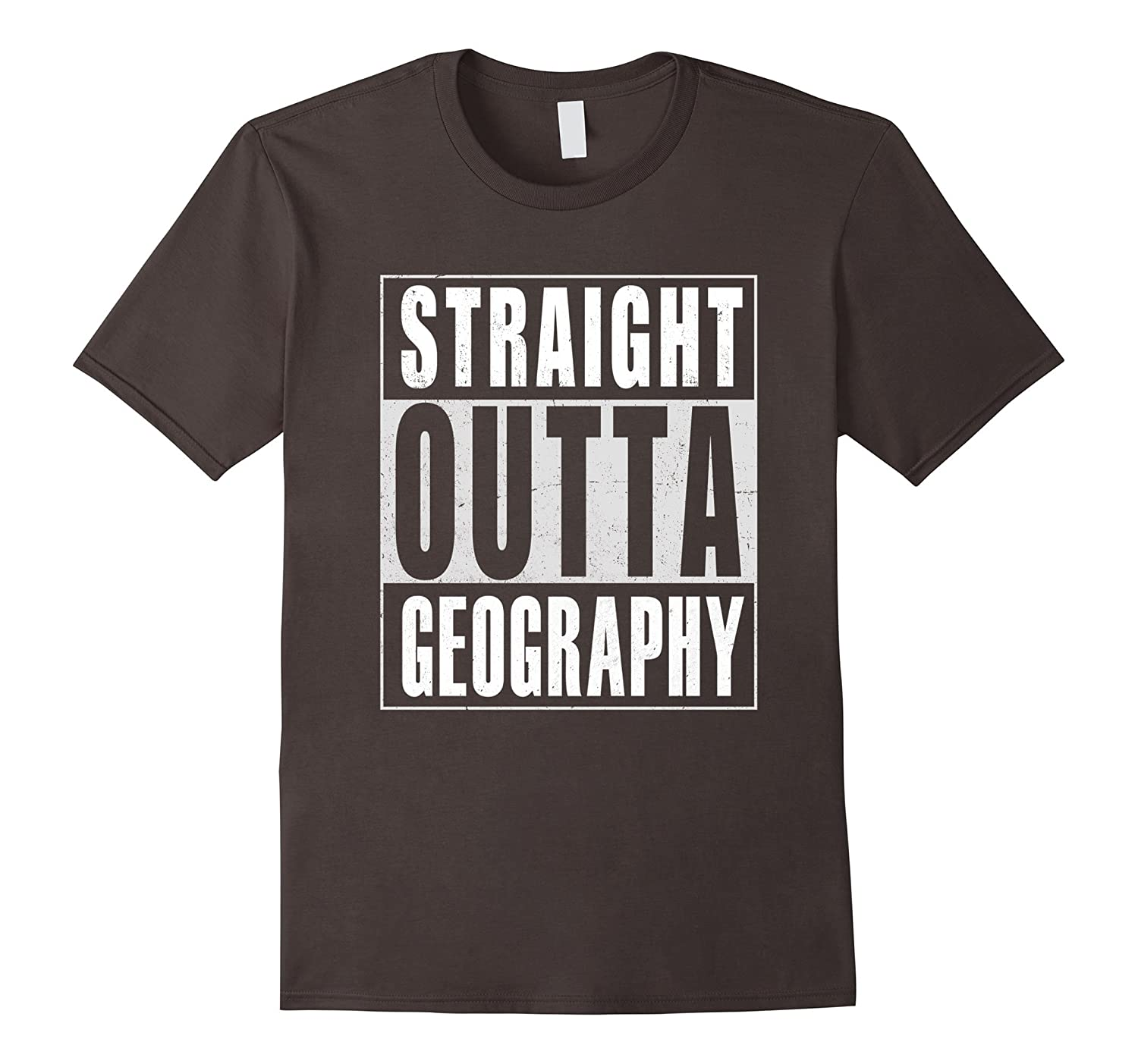 00b0ea1e Straight Outta Geography T-Shirt Funny-CD – Canditee