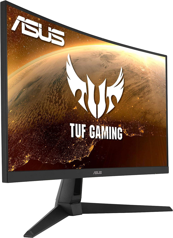 Gris 2560 x 1440, 165 Hz, 1 ms, 1500R, 16:9, FreeSync Premium, HDR10, HDMI, DisplayPort Monitor gaming curvo de 27 WQHD Asus TUF Gaming VG27WQ1B