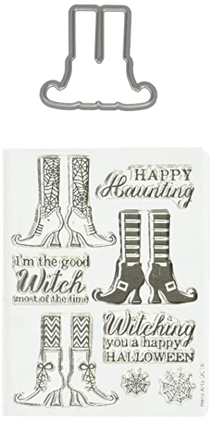 Amazon.com: Hero Arts Witch Feet Stamp & Cut Die: Arts, Crafts ...