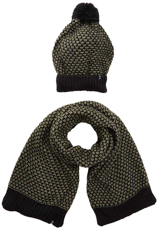 Set cappello e sciarpa in tricot jacquard