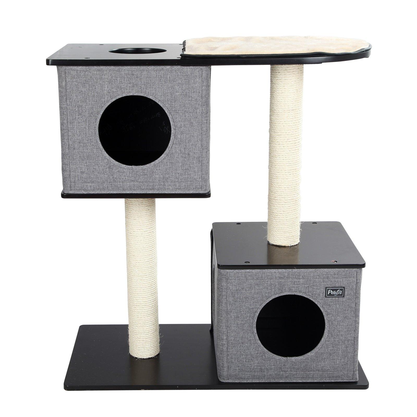 Petsfit 34''H x 32''L x 16''D Cat Tree with Scratching Post / Cat Tree Furniture