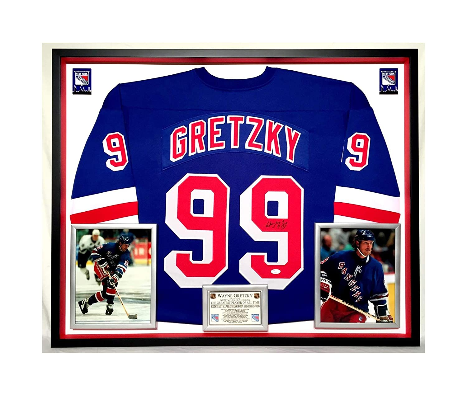 the best attitude 4bc8c b62d9 Premium Framed Wayne Gretzky Autographed/Signed New York ...