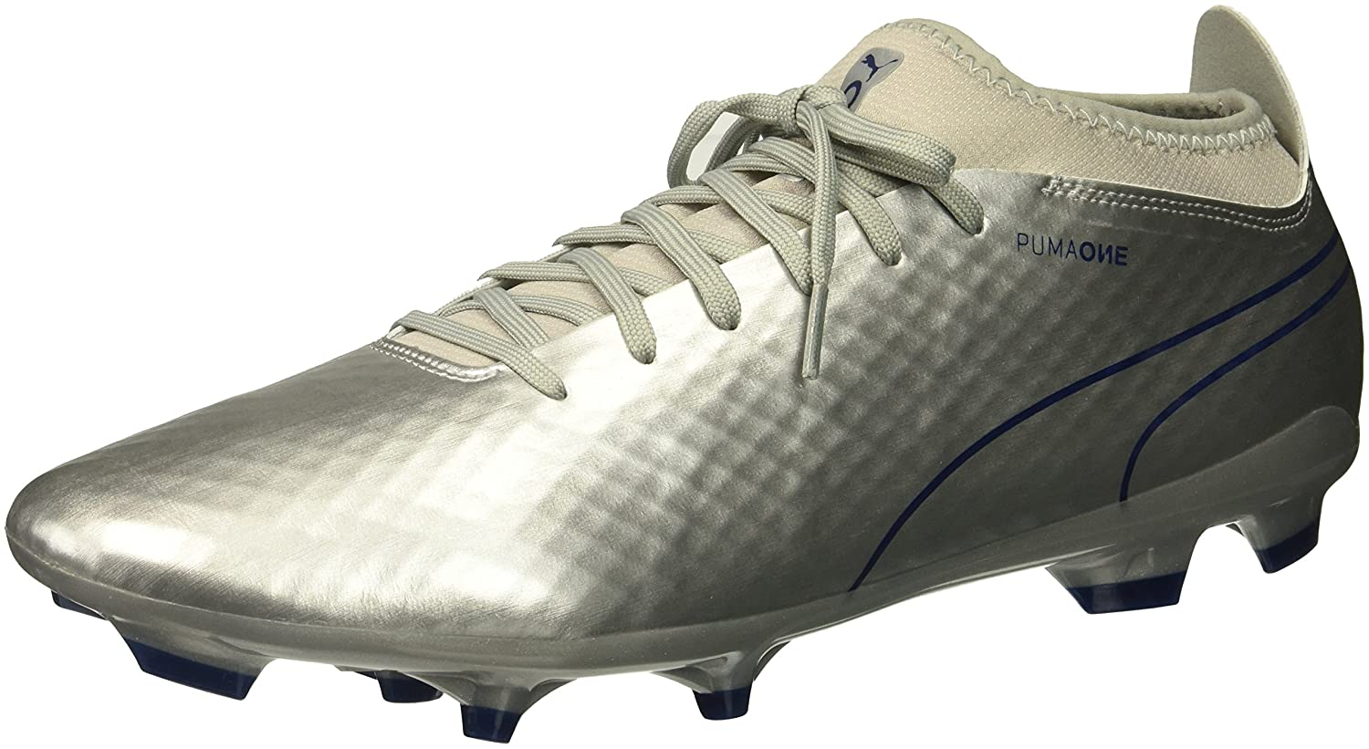 PUMA Men's One Chrome 2 FG Soccer Schuhe, Silver Blau Depths, 9 M US