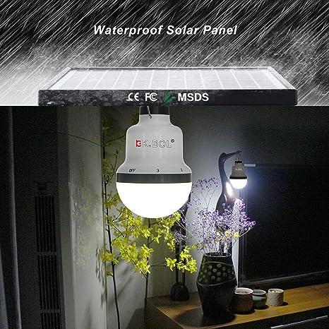 Solar Camping Lamp Portable Clip On Magnet Umbrella Light White LED Lights K6I2
